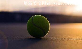 被抛过无数次的网球